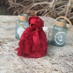 Mochila Deluxe Flecos Rojos 4