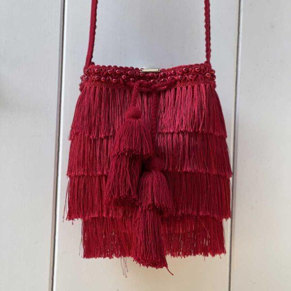 Mochila Deluxe Flecos Rojos 1